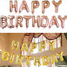 Self Inflating Happy Birthday Banner Foil Balloon Bunting Gold Silver Letters hi