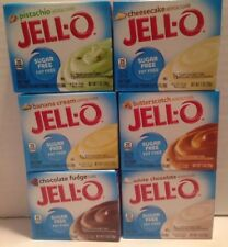 6 X JELL-O Jello Sugar Free Instant Pudding & Pie Choice Flavors Caterers   Read