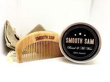 SMOOTH SAM Beard & Mo Wax & Peachwood Comb