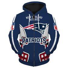 d3cf86df3 NEW ENGLAND PATRIOTS Hoodie Hooded Zip Sweatshirt Pullover S-5XL NFL 2019  CHAMPS