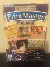 Brand New Factory Sealed Printmaster Platinum