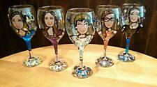 Personalised Poison-Hand Painted Wine Glass + Bling! 18th, 21st, 30th, 40th Anniversaire
