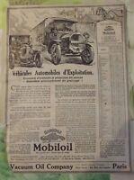 Ancienne Publicité Mobiloil Gargoyle Guide de Graissage 1920 Bugatti Citroën