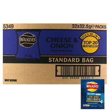 Box of 32 Walkers Cheese and Onion Crisps (32.5g bags)