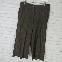 J Jill Pants Womens Size 8 Brown Crop Genuine Fit Wide Leg