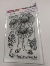 Daisy Thanks Flower Clear Acrylic Stamp Set by Stampendous Stamps SSC1112 NEW