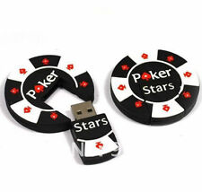 1pc 128GB Black White Poker Chip Stars USB Flash Thumb Drive USA Shipper