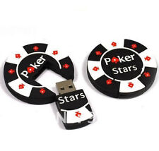 1pc 64GB Black White Poker Chip Stars USB Flash Thumb Drive USA Shipper
