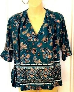 COLLECTIVE CONCEPTS Womens Blouse Size Small Stitch Fix Paisley Print Top New