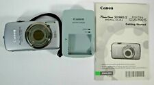 Canon PowerShot Digital ELPH SD980 IS 12.1MP Silver with Charger - Tested