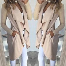 Female Autumn Winter Models Large Lapel Slim Mid-length Windbreaker Jacket Coat