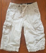 Debenhams Boy's Beige 100% Cotton Long Cargo Shorts Size 5/6 Years