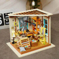 Rolife DIY Doll Houses with Wooden Furniture Miniature Room Tailor Shop for Girl