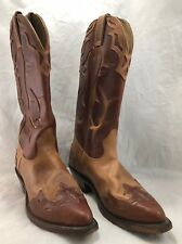 Boulet Women's Leather Embroidered Western Cowgirl Boots Brown/Tan Size 6 Canada