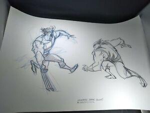 Hulk Versus Wolverine Marvel Animation Concept Art Frank Paur CONCEPT art FIRST
