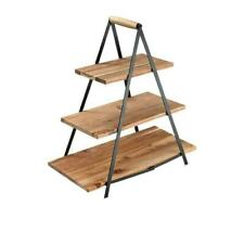 Ladelle 33365604 Serve & Share Acacia Wood Serving Tower