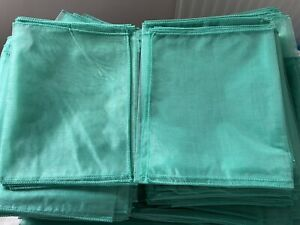 190 Light Teal Organza Chair Sashes - Wedding Event Decoration