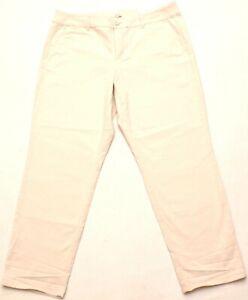 """Ann Taylor LOFT Girlfriend Chino Khaki Pants, Curvy, Size 14 X 29"""", NEW"""