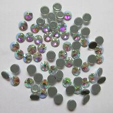 Cristal blanco AB Hot Fix Rhinestones Cristales Hotfix Flatback Strass para ropa