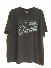 Dodge Ram Truck Design Logo XL black t shirt 100% cotton