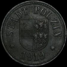 NOTGELD: 5 Pfennig 1919, Zink. F 428.2. STADT POLZIN / POMMERN. POŁCZYN-ZDRÓJ.