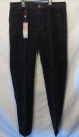 Men's Prestige Corduroy Pants Color Black 42  Waist 34 Inseam