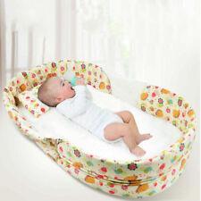 Newborn Travel Cot Bed Set Foldable Baby Bassinet Crib Infant Portable Sleep Bag