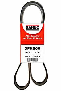 BANDO 3PK860 Serpentine Belt-Rib V-Ribbed Belt fits 2004-2009 TOYOTA Prius 1.5L