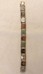 Vintage Brasstone Paris Landmarks Souvenir Bracelet