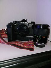 Olympus om-2s program SLR Camera W/ Samyang F:28 70mm Lense / Winder / Strap