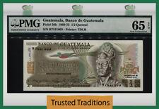 TT PK 58b 1969-75 GUATEMALA 1/2 QUETZAL PMG 65 EPQ GEM UNCIRCULATED POP THREE!