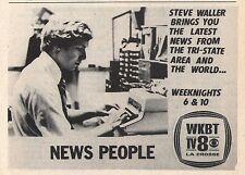 1980 Tv Ad~STEVE WALLER~WKBT NEWS in LA CROSSE,WISONSIN~Tri State Area Promo