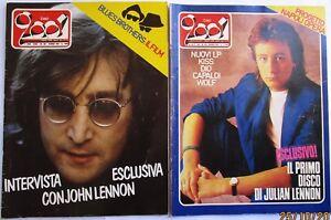 CIAO 2001  JOHN  LENNON - JULIAN LENNON  LOTTO 2 RIVISTE