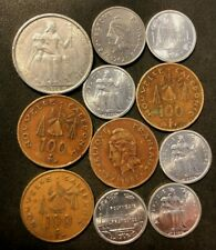 New ListingOld French Oceania Coin Lot - 1949-Present - 11 Very Low Mintage Coins - Lot J30