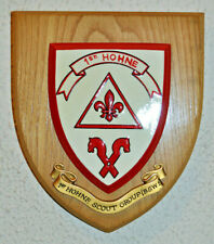 More details for 1st hohne scout group boy scouts of western europe plaque shield crest baor