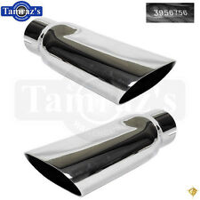 68-72 Chevelle SS Big Block BB Chrome Plated Exhaust Tip w/ GM # Stamped PAIR