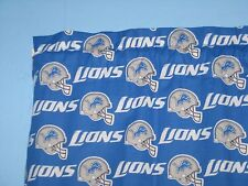 "DETROIT LIONS BLUE White Handmade  57"" Wide Window Curtain Valance"