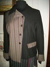 Veste Blazer polyester/laine stretch HEALTH clavecin t.3 42/44 Empiècements