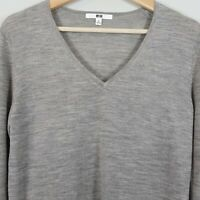 [ UNIQLO ] Womens Pure new wool V/Neck Jumper    Size M or AU 12 / US 8