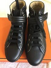 Authentic BINB Hermes Black Leather High Top Men's Sneakers Size 40.5 Euro $1175