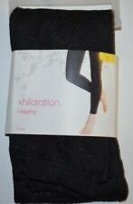 Women's New Xhilaration Leggings Ebony Black Textured Stretch Pants size S 4-6