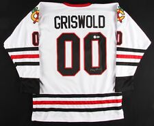"""Chevy Chase Signed """"Griswold"""" Blackhawks Jersey (Beckett COA & Chevy Chase Holo)"""