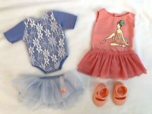 American Girl Our Generation Battat 18 in 4 piece ballet dance doll clothes