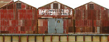 #256 N scale background building flat  UNIVERSAL SCRAP METALS  *FREE SHIPPING*
