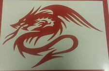 Chino Dragon Tribal-Rojo-Revoluciones-Corte De Vinilo Decal Sticker, Pared Arte