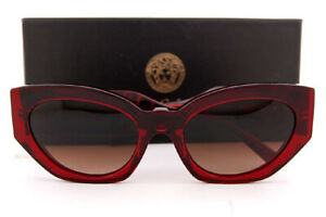 Brand New VERSACE Sunglasses VE 4376B 388/13 Burgundy Crystal/Brown Gradien