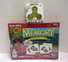 Hasbro Angry Birds Go Memory Game, Damaged Box, Sealed, w/ Bonus Hand Spinner