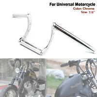 "Chrome 7/8"" 22mm Motorcycle Handlebar Drag Z Drag Bars For Harley Honda Suziki"