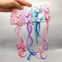 2pcs Girls Gradient Color Wigs Princess Ornament Hairgrips Hair Clips Barrettes