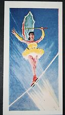 Low Wire Tight Rope Circus Act      Vintage Illustrated Card # EXC